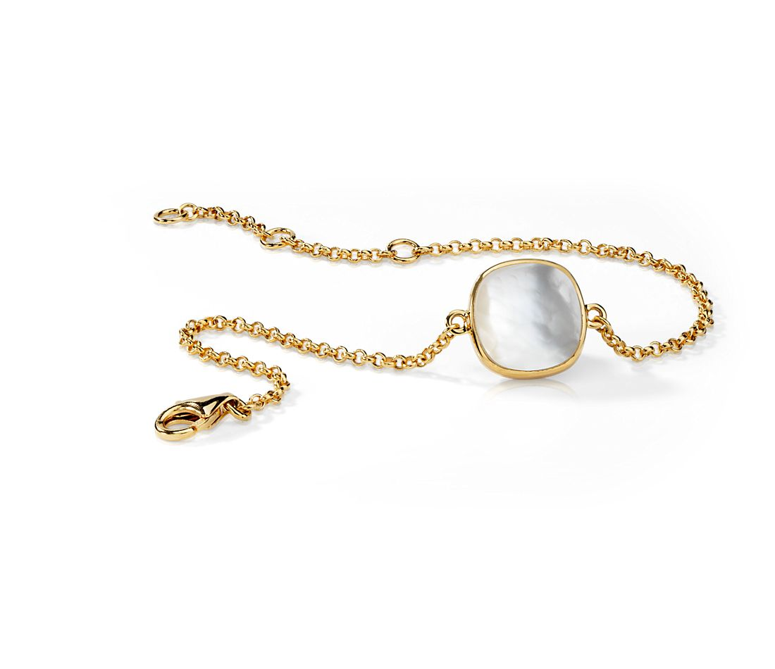 Mother of Pearl Bracelet in Gold Vermeil