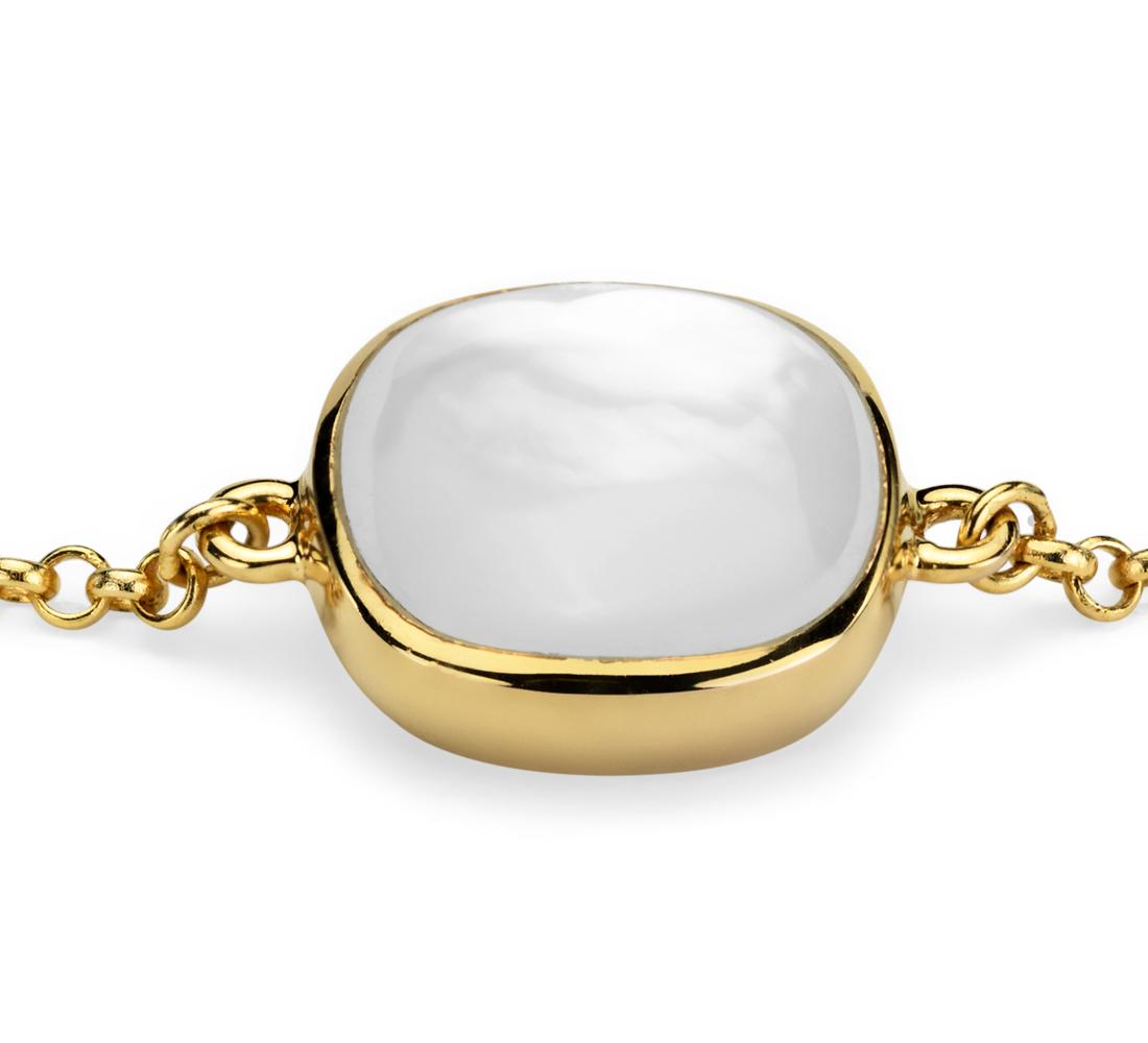 Mother of Pearl Bracelet in Gold Vermeil