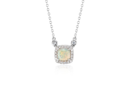 Cushion opal pendant white topaz halo in sterling silver 6mm cushion opal pendant white topaz halo in sterling silver 6mm aloadofball Images
