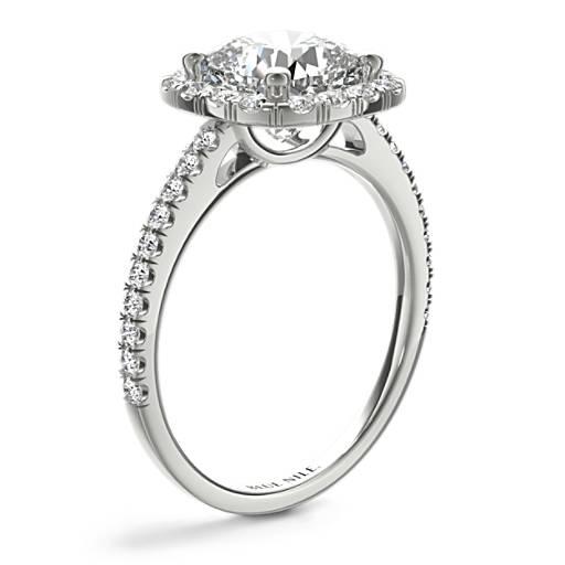 Cushion-Cut Halo Diamond Engagement Ring
