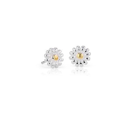 Daisy Stud Earrings in Sterling Silver