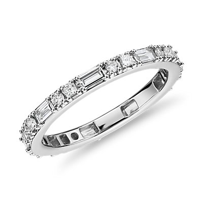 Dot Dash Diamond Eternity Ring in 14k White Gold (3/4 ct. tw.)