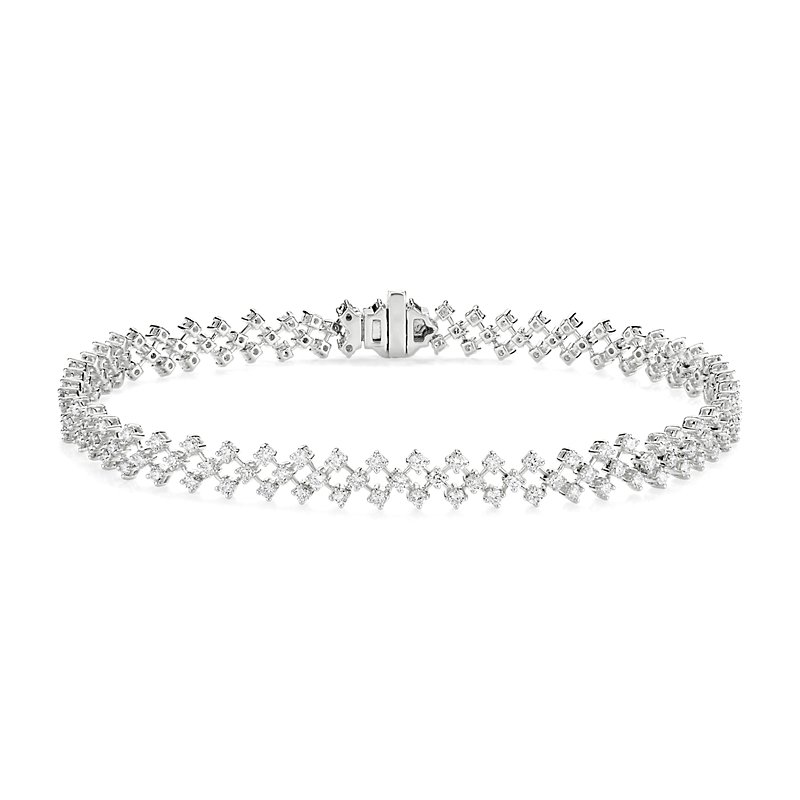 Delicate Diamond Lace Bracelet in 14K White Gold (2 ct. tw.)