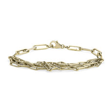 NEW Delicate Five Row Bracelet in 14k Yellow Gold