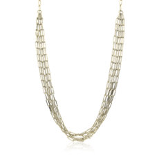 NEW Delicate Five Row Necklace in 14k Yellow Gold