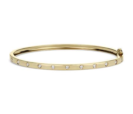 14k 黃金 鑽石手鐲<br>( 1/2 克拉總重量)