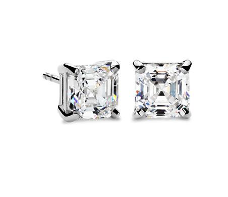 Four-Prong Earrings in 14k White Gold