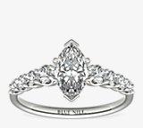 Graduated Side Stone Diamond Engagement Ring