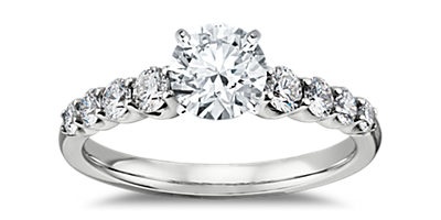 diamond sidestones - Wedding Ring Styles