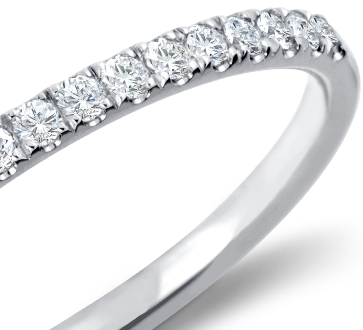 Petite Cathedral Pavé Diamond Ring in 14k White Gold (1/6 ct. tw.)