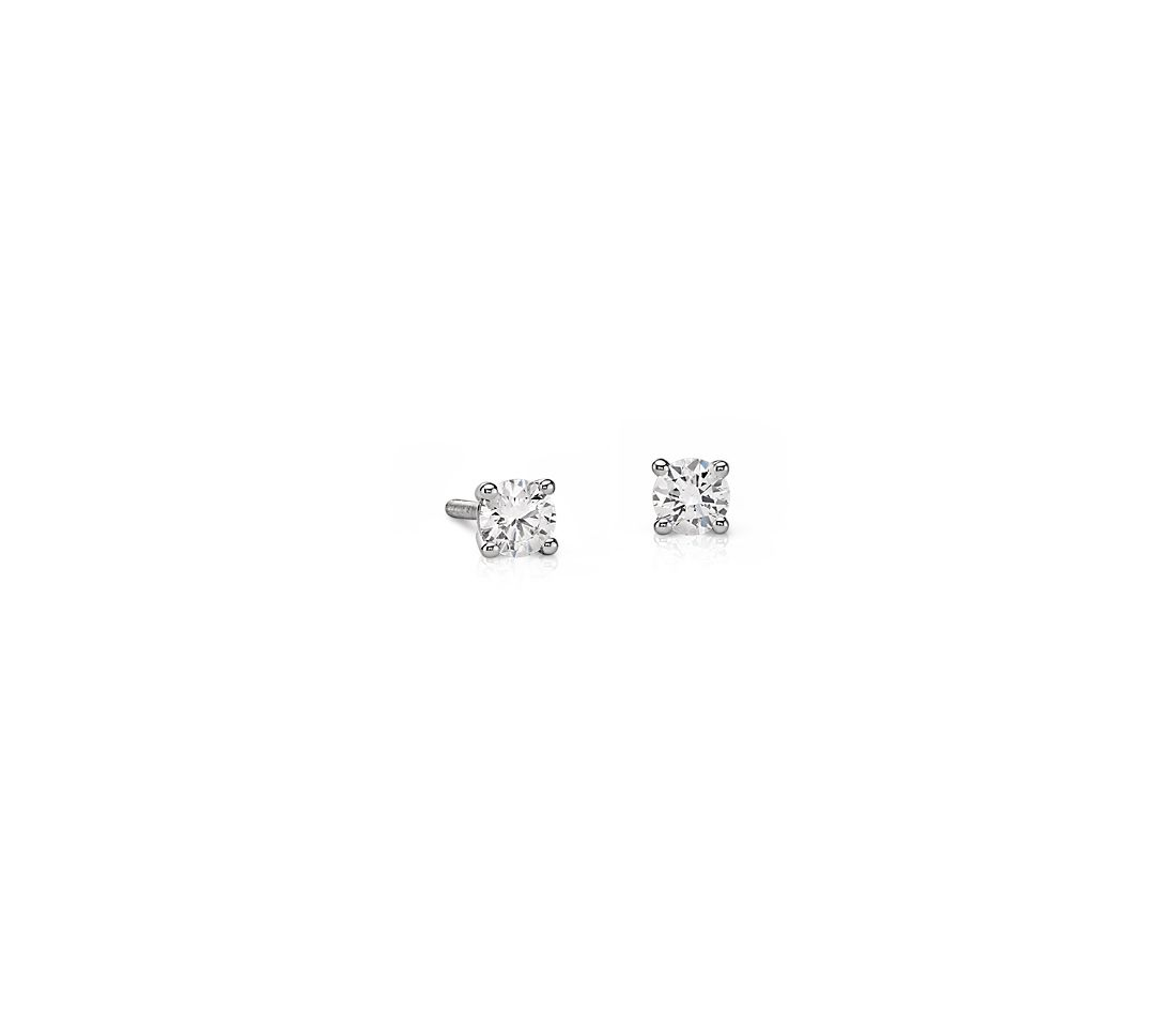 Essential Diamond Stud Earrings in 14k White Gold (1/4 ct. tw.)