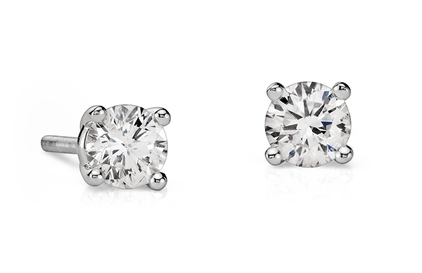 Essential Diamond Stud Earrings in 14k White Gold (1/2 ct. tw.)