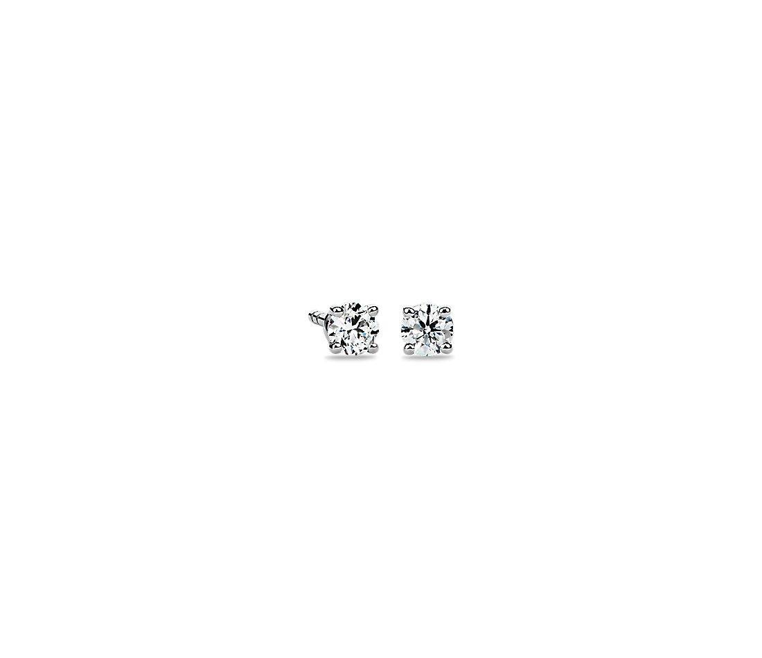 14k White Gold Four-Claw Diamond Stud Earrings (1/4 ct. tw.)