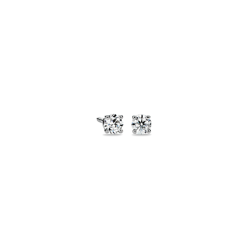 Diamond Stud Earrings in 14k White Gold (1/4 ct. tw.)