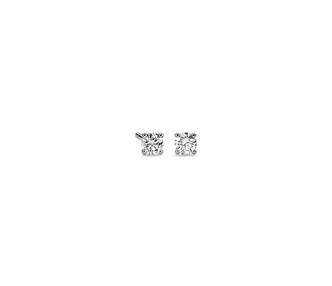 14k White Gold Four-Claw Diamond Stud Earrings (1/3 ct. tw.)