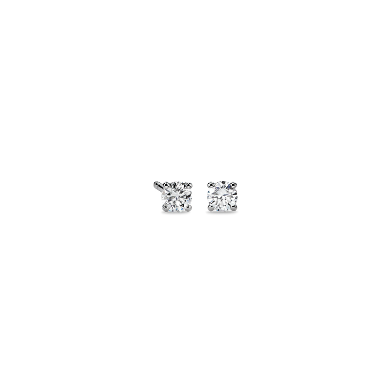 Diamond Stud Earrings in 14k White Gold (1 ct. tw.)- I/I2