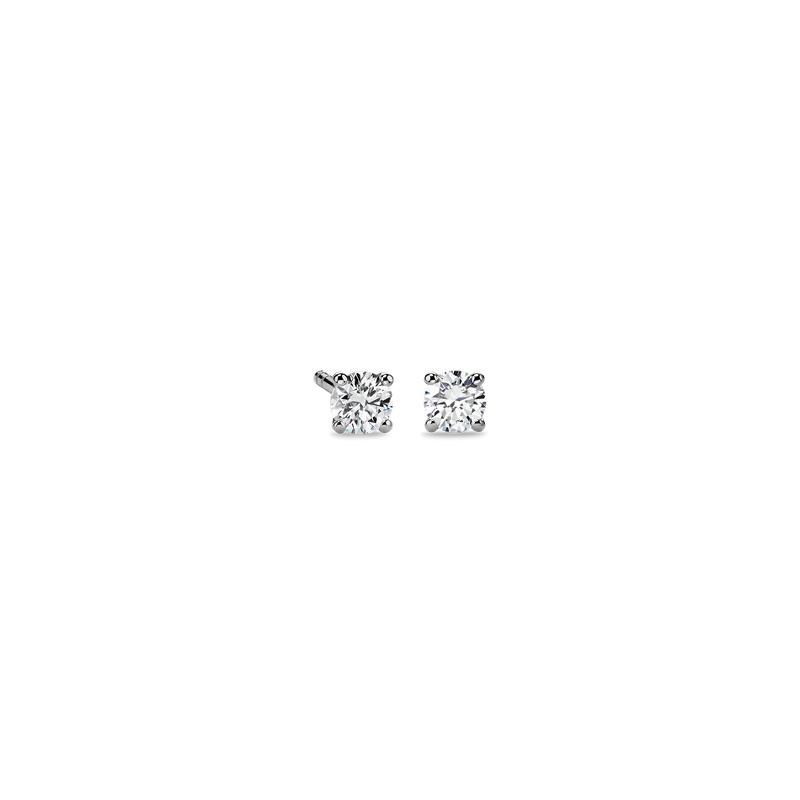 Diamond Stud Earrings in 14k White Gold (1/3 ct. tw.)- I/I2
