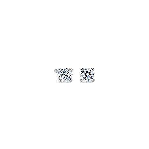 Puces d'oreilles en diamant en or blanc 14carats (1/2carat, poids total)