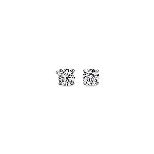 14k White Gold Four-Claw Diamond Stud Earrings (3/4 ct. tw.)