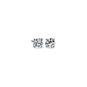 14k White Gold Four-Claw Diamond Stud Earrings (1 ct. tw.)