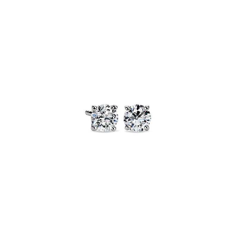 Diamond Stud Earrings in 14k White Gold (1 ct. tw.)