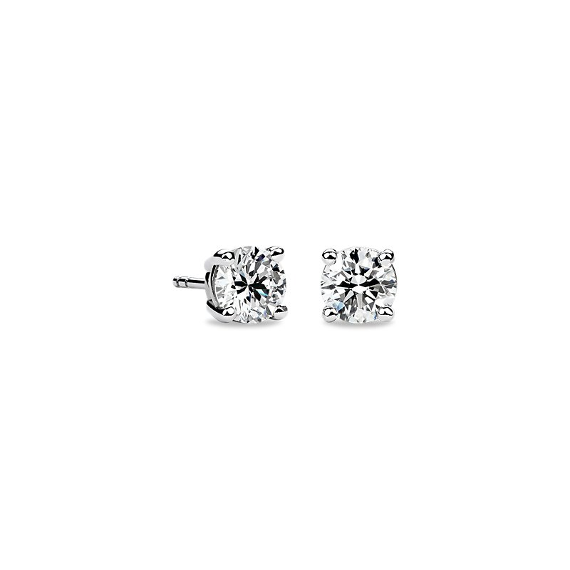 Diamond Stud Earrings in 14k White Gold (1 3/8 ct. tw.)