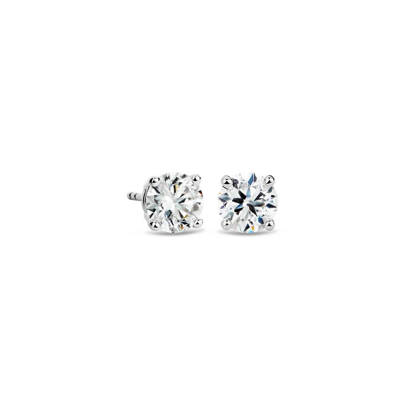 Diamond Stud Earrings in 14k White Gold (2 ct. tw.)