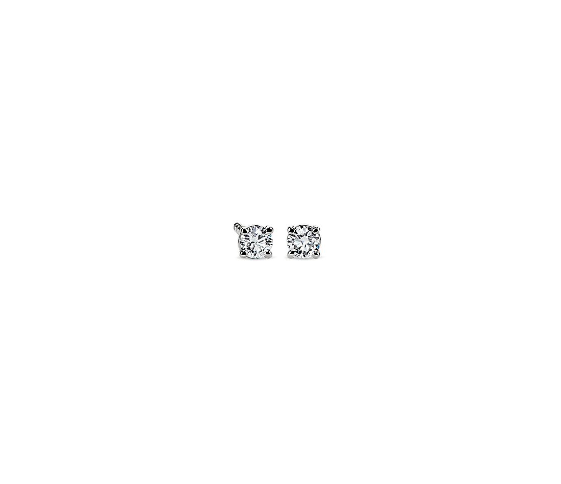Diamond Stud Earrings in 14k White Gold (1/5 ct. tw.)