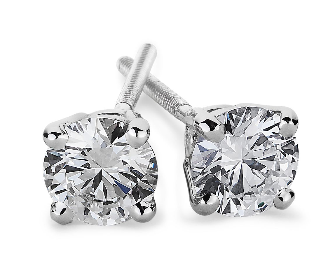 Essential Diamond Stud Earrings in 14k White Gold (3/4 ct. tw.)