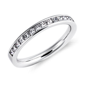 Channel Set Princess Cut Diamond Ring in 14k White Gold (1/2 ct. tw.)