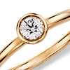 Bezel Set Round Diamond Ring in 14K Yellow Gold (1/5 ct. tw.)