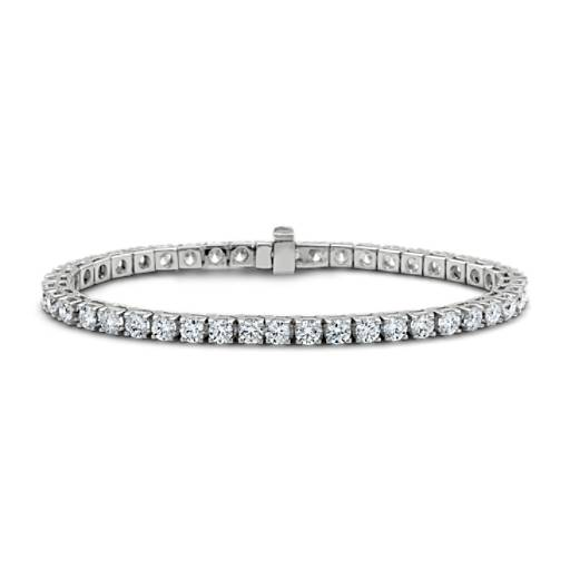 Diamond Tennis Bracelet In 18k White Gold 7 Ct Tw