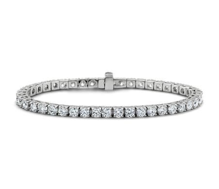 Diamond Tennis Bracelet In 18k White Gold 7 Ct Tw