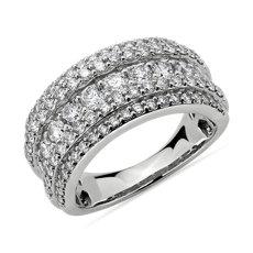 NEW Diamond 5-Row Fashion Ring in 14k White Gold (2 ct. tw.)