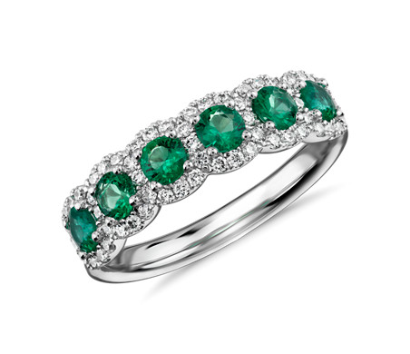 in gold ring anniversary ctw band com dp emerald white and diamond bands amazon