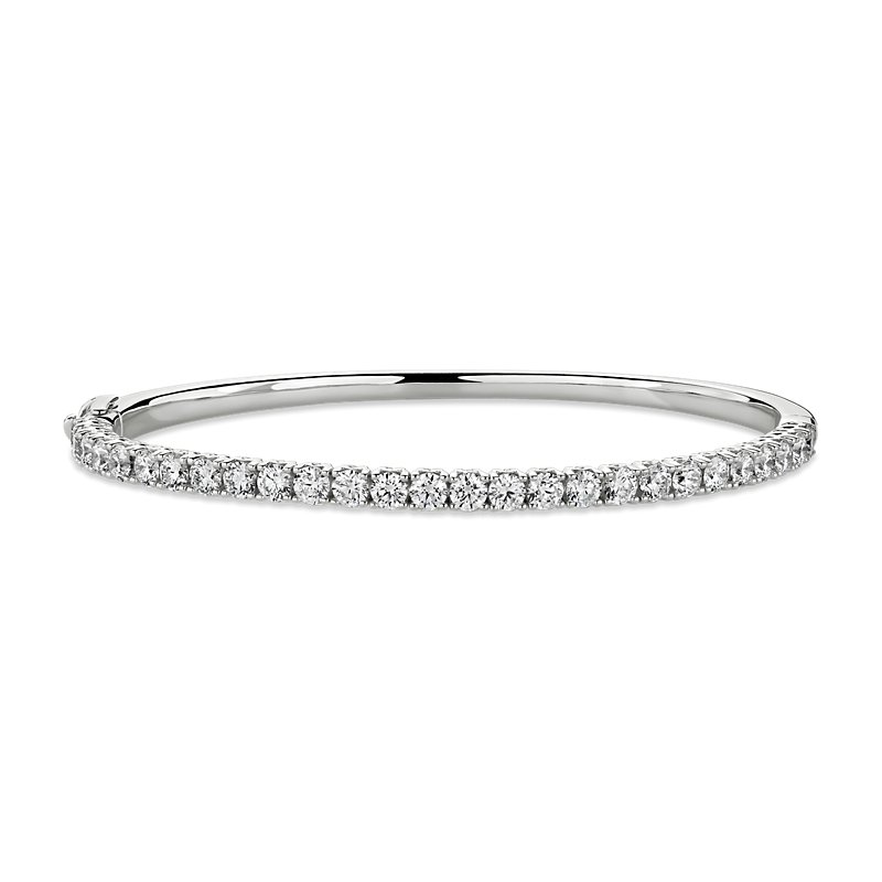 Diamond Bangle in 14k White Gold (3 ct. tw.)