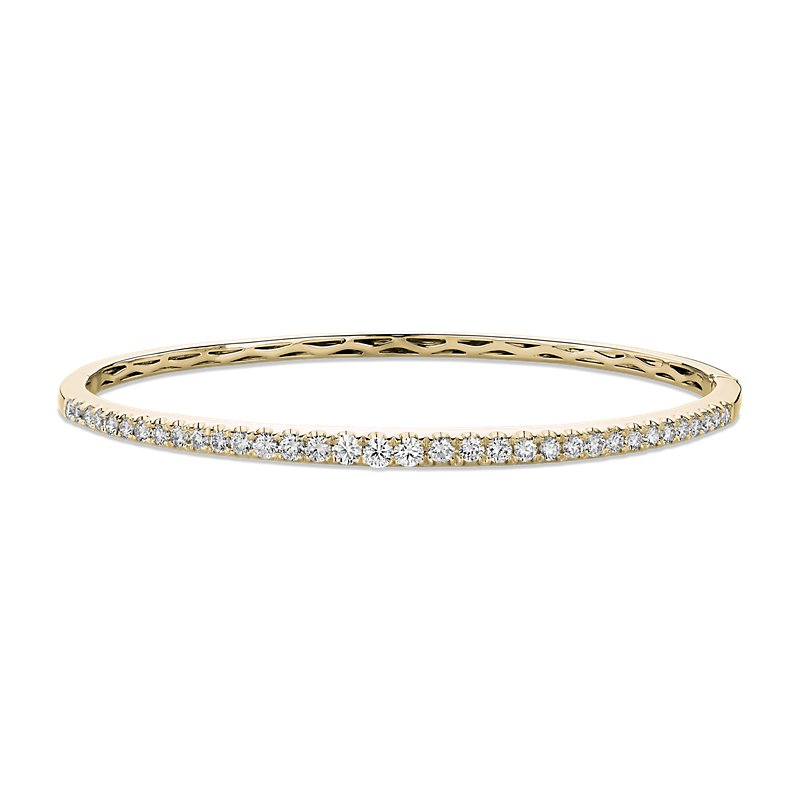 Diamond Bangle in 14k Yellow Gold (1 1/10 ct. tw.)