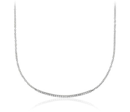 Diamond Bar Necklace in 14k White Gold (1/4 ct. tw.)