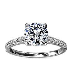 Diamond Basket and Pave Diamond Engagement Ring in Platinum (1/3 ct. tw.)