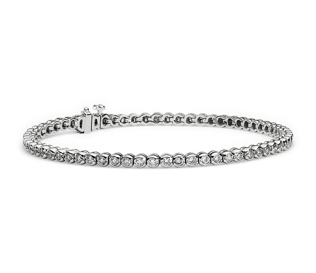 Diamond Bezel Diamond Bracelet in 14k White Gold (2 ct. tw.)