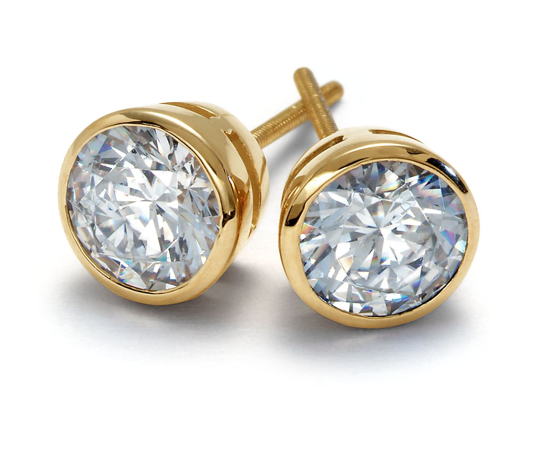 how to clean gold diamond earrings