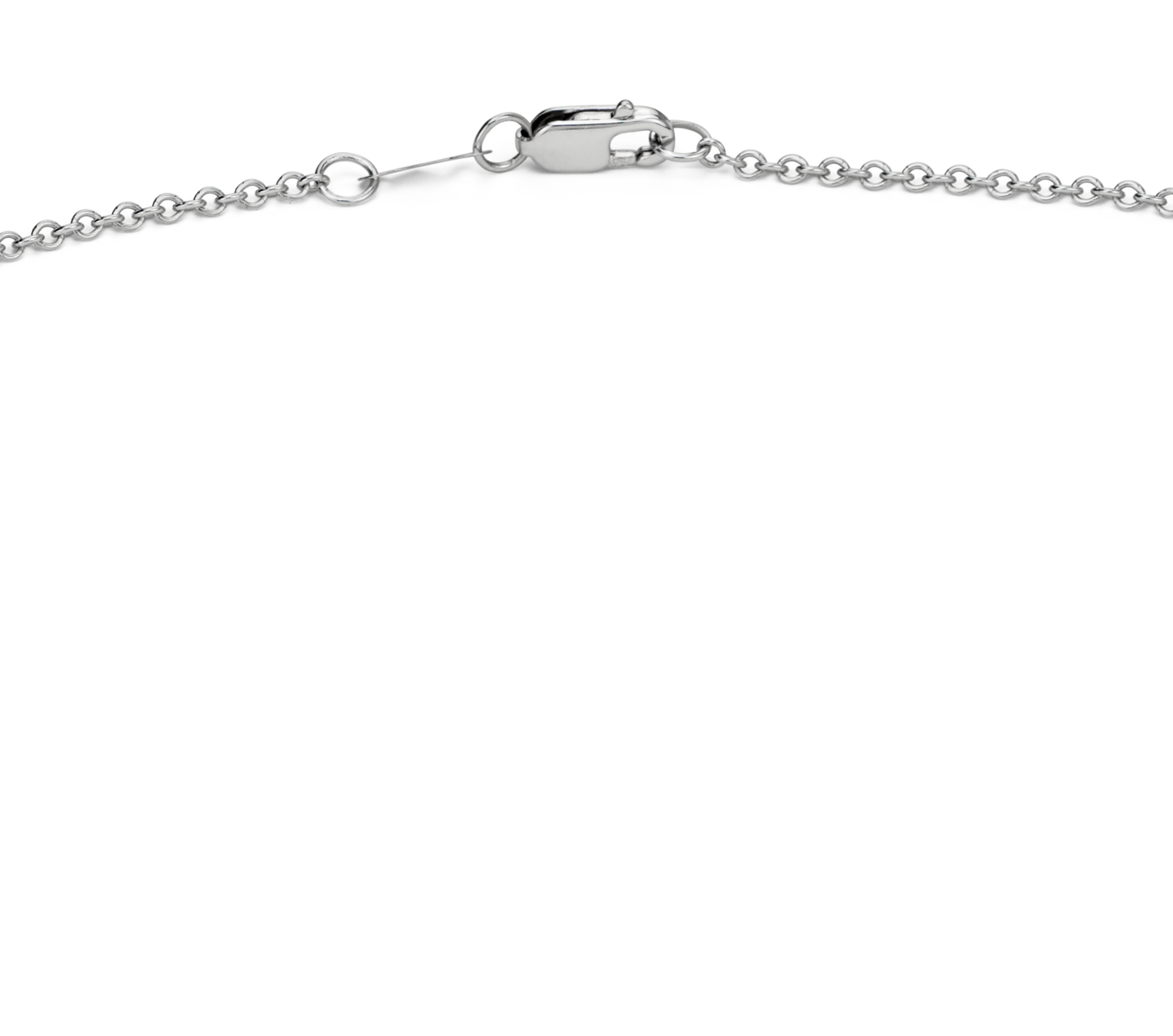 Collier plastron diamants sertis clos en or blanc 14 carats (1 carat, poids total)