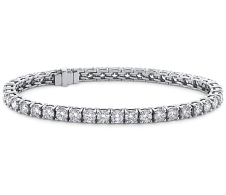 Blue Nile Signature Ideal Cut Diamond Tennis Bracelet in Platinum (7 ct. tw.)