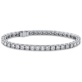 Brazalete de diamantes de talla ideal exclusivo de Blue Nile en platino (10 qt. total)