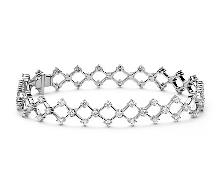 Bracelet diamant Blue Nile Studio Galaxy en or blanc 18 carats (2,2 carats, poids total)