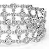 Blue Nile Studio Diamond Floral Triple Line Bracelet in 18k White Gold  (5 ct. tw.)