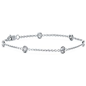 Diamond Bezel Bracelet in 18k White Gold (1 1/5 ct. tw.)