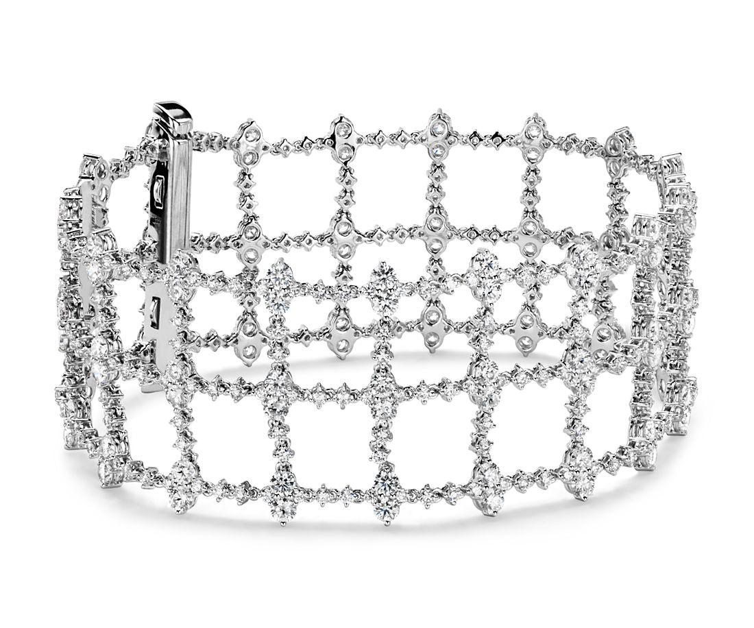 Diamond Treillage Bracelet in 18k White Gold (9.74 ct. tw.)
