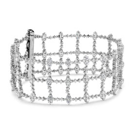 Diamond Treillage Bracelet in 18k White Gold (9.74 ct. tw.)
