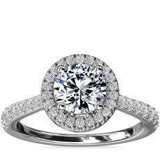 Diamond Bridge Halo Diamond Engagement Ring in Platinum (1/3 ct. tw.)